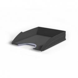 Bandeja escritorio apilable plástico negro Durable