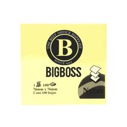 Nota Adhesiva Zig-Zag 100 hojas amarilla Big Boss