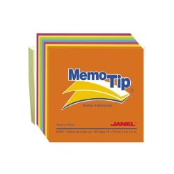 Nota Adhesiva 76x76mm 100 hojas Néon Memo Tip