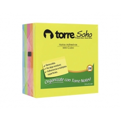 Notas adhesivas Mini Cubo Notes 5x5cm. 250Hojas Torre