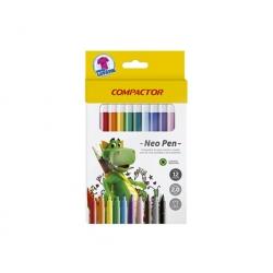 Lápices Scripto 12 Colores Compactor