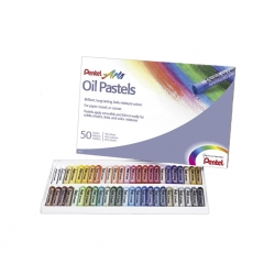 Lápices Pastel Graso 50 Colores Pentel