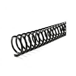 Espiral Plástico 12mm. 50unid. Negro Spyra