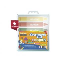 Crayón Gel 6 colores Adetec