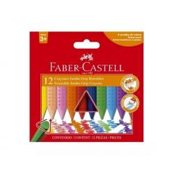 Crayones Grip Jumbo de cera 12 colores Faber Castell