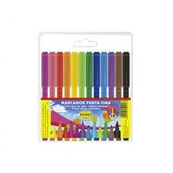 Lápices scripto 12 colores Hand
