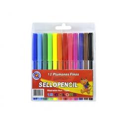 Lápices scripto 12 colores Sellopencil