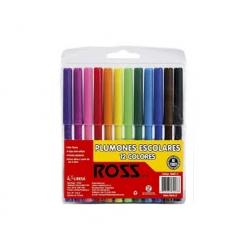 Lápices scripto 12 colores Ross