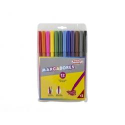 Lápices scripto 12 colores Artel