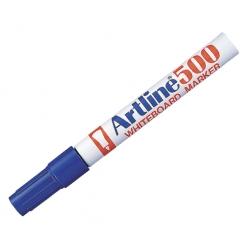 Marcador Pizarra 500 recargable azul P/Redonda Artline