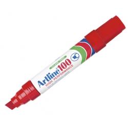 Marcador Permanente Recargable 100 rojo P/Biselada Artline