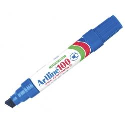 Marcador permanente recargable 100 azul P/biselada Artline