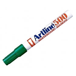 Marcador Pizarra 500 recargable P/redonda verde Artline
