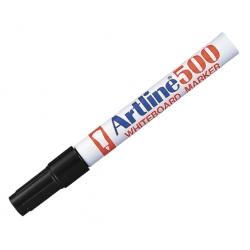 Marcador Pizarra Recargable 500 negro P/Redonda Artline