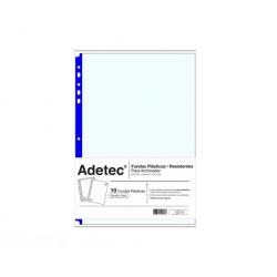 Funda Plastica Res. Carta R-Azul 100und. 75mic Adetec