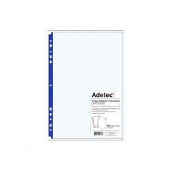 Funda Plastica Res. Oficio R-Azul 100und. 75mic Adetec