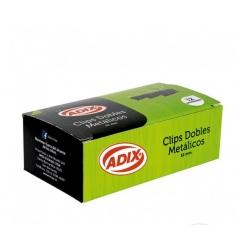 Apretador Doble Clip 32mm. 12und. Adix