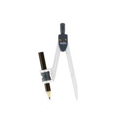 Compas Plástico C/Adaptador y sacapunta Adix