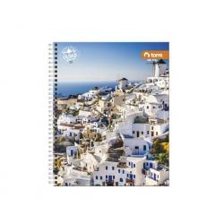 Cuaderno universitario clasico ciudad 100 hojas Torre