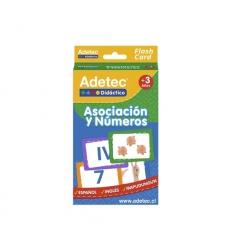 Flash Card Asociación y Números 60 piezas Adetec