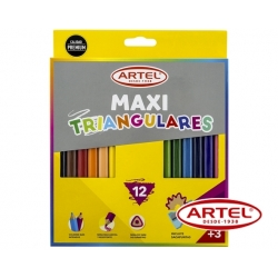 Lápices de colores Maxi (Largos) 12 unidades Artel