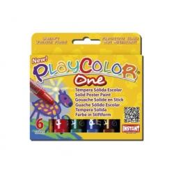 Tempera solida Playcolor 6 colores Instant