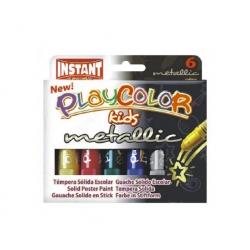 Tempera Metalizada Playcolor 6 colores Instant