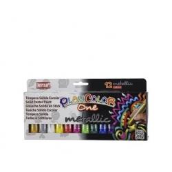 Tempera Metalizada Playcolor 12 colores Instant
