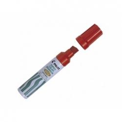 Marcador permanente recargable 6600 punta biselada rojo Pilot