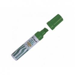 Marcador permanente recargable 6600 punta biselada verde Pilot