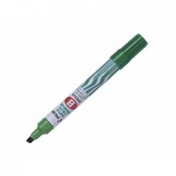 Marcador permanente recargable SCA punta biselada verde Pilot