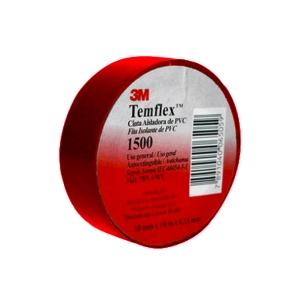 Cinta Aisladora Vinílica Temflex 1500 Rojo 3M