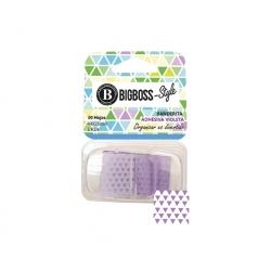 Banderitas Adhesivas Diseños 30 Hojas violeta Big Boss