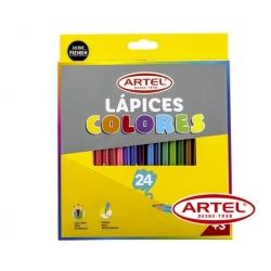 Lápices de colores (Largos) 24 unidades Artel