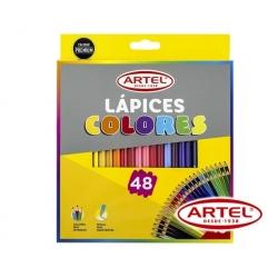 Lápices de colores (Cortos) 48 unidades Artel