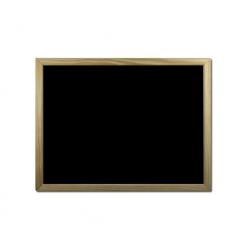 Pizarra marco madera 60x45cm. negra Bi-silque