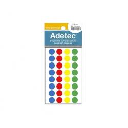 Etiqueta Circular 4 Colores 256 unidades 15 mm. Adetec