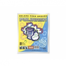 Bolsa Basura 50x55cm 10 unid negra Polinasa